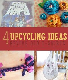 Cool Upcycling Ideas & Other Recycled Craft Projects | How To Make Things With Old Junk By DIY Ready. http://diyready.com/upcycle-t-shirt-x-ways-upcycle-clothing/