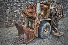 old machinery | Old machinery used in mining - HDR Photo