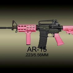 I want this under my seat in my pink and black truck. Pink Tractor, Pink Guns, Big Girl Toys, Black Truck, Outdoor Girls, Another Love, Hello To Myself, Ares, Cool Guns