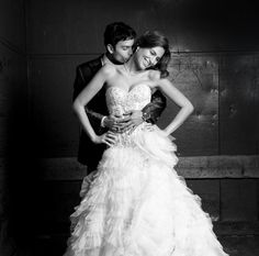 Bénédicte Verley Photography sexy couple wedding portrait classic black and white