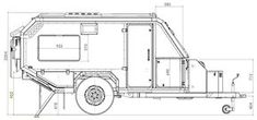 Trendy off road campers trailer diy off the grid ideas Off Road Camper Trailer, Trailer Diy, Car Camper, Camper Trailers, Expedition Trailer, Overland Trailer, Offroad, Teardrop Trailer Plans, Teardrop Camping