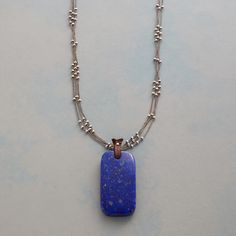 """A triple strand of sterling silver and faceted drops of lapis and topaz stand by as a leather-looped lapis pendant conjures blue skies and endless possibilities. Sterling silver lobster clasp. Exclusive. 17""""L."""