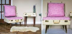 6 super cool vintage suitcase projects - Sherry Salvage