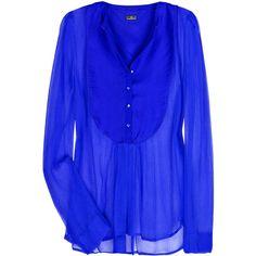 Polani silk-chiffon shirt ($59) ❤ liked on Polyvore
