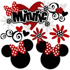 Minnie - Cutouts Minnie Mouse Clubhouse, Minnie Mouse Theme, Disney Mickey Mouse, Disney Coupons, Disney Scrapbook Pages, Scrapbooking Ideas, Disney Clipart, Disney Printables, Minnie Birthday