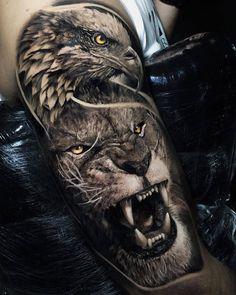 tattoo eagle back ~ tattoo eagle ` tattoo eagle arm ` tattoo eagle small ` tattoo eagle back ` tattoo eagle old school ` tattoo eagle feminine ` tattoo eagle geometric ` tattoo eagle chest Wolf Tattoos, Lion Arm Tattoo, Bald Eagle Tattoos, Lion Forearm Tattoos, Animal Sleeve Tattoo, Lion Tattoo Sleeves, Lion Head Tattoos, Mens Lion Tattoo, Lion Tattoo Design