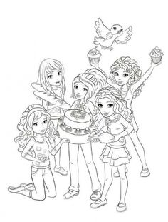 Online Lego Friends coloring pages for girls