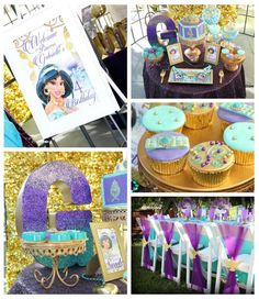 Aladdin Themed Princess Birthday Party via Kara's Party Ideas KarasPartyIdeas.com Party supplies, tutorials, recipes, printables, cake, and more! #princessparty #princessjasmine #aladdinparty #aladdinpartyieas #princessjasmineparty #arabianprincess