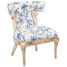 John Richard 2004 Fabric Jefferson Slipper Chair