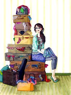 Meghann powell illustration portfolios meghann powell illustration page 21 иллюстрация Travel Illustration, Illustration Girl, Just In Case, Fashion Art, Sketches, Clip Art, Wallpaper, Disney Characters, Drawings