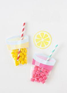 Printable lemonade party favors