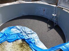 Udskiftning af dug / liner i stål pool Milwaukee, Baby Car Seats, Design, Om, Garden Cottage