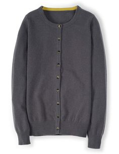 Cashmere Crew Neck Cardigan WU002 Cardigans at Boden