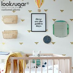 Bee Wall Decals x 45 for Modern Living Space  por looksugar en Etsy, $43.00