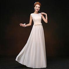 Sheath/Column Bateau Floor-length Bridesmaid Dress – AUD $ 71.49