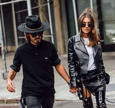 Leather.. #NYFW #SS16 #StreetStyle #PatriciaManfield #Leather #Outfit #Style