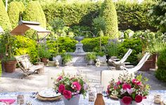 With her latest book, <i>Garden Inspirations,</i> just published, renowned interior designer <b>Charlotte Moss</b> shares tips, tricks and — naturally! — inspiration for creating beautiful outdoor spaces using examples from her own estate in East Hampton, New York.