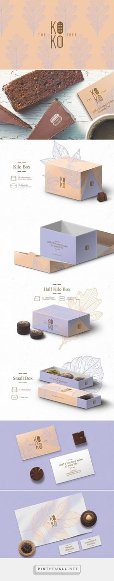 Branding, graphic design and packaging for The Koko Tree on Behance by Studio AIO Shuwaikh, Kuwait curated by Packaging Diva. PD. Yummy natural chocolate with unique packaging and earthy palette graphics.