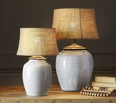 Courtney Ceramic Table Lamp Base - Ivory | Pottery Barn