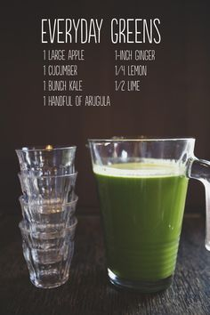 Ginger Green smoothie ~ put it all in the blender and enjoy! Juice Cleanse Recipes, Green Juice Recipes, Detox Recipes, Raw Food Recipes, Healthy Recipes, Juice Smoothie, Smoothie Drinks, Healthy Smoothies, Healthy Drinks
