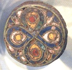 Anglo-Saxon Archaeology: Canterbury  Anglo Saxon Brooch with glass inlays