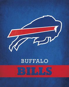 NFL - Buffalo Bills Logo $24.99 Exhibit your devotion for the Buffalo Bills with this 16x20 Printed Canvas Logo from ScoreArt. This incredible print is ideal for the fan in your life.  #Buffalo #Bills #BuffaloBills #NFL #Football #ScoreArt #Sports Buffalo Bills Logo, Buffalo Bills Football, Football Team, American Football League, American Sports, Football Canvas, Nfl Officials, Nfl Logo, Football Conference