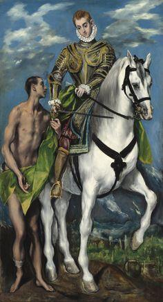 """Saint Martin and the Beggar"", 1599, El Greco."
