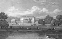 Attingham Park in Shropshire, England from Jones's Views of the Seats of Noblemen and Gentlemen (1829).