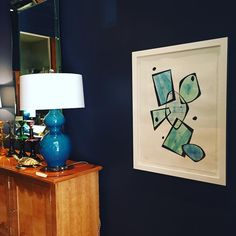 Thank you @stevemcelroyart for this fabulous piece! The colors look so beautiful in my Dallas showroom. #notforsale #localartist #dallasdesigndistrict