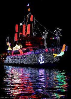 Newport Beach Christmas light boat parade
