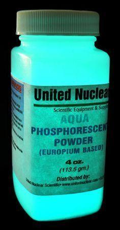 Europium UltraGlow® Powder - AQUA Glow in the Dark powders