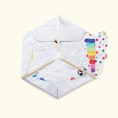 Play mat: exploring colors zone with soft color tabs great for tummy time