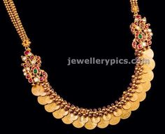 Gold Overlaid kasulaperu tushi pattern - Latest Jewellery Designs