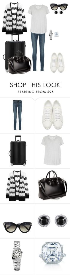 """""""Sem título #1923"""" by analuli on Polyvore featuring moda, Frame Denim, Yves Saint Laurent, Rimowa, James Perse, M Missoni, Givenchy, Valentino, Reeds Jewelers e Cartier"""