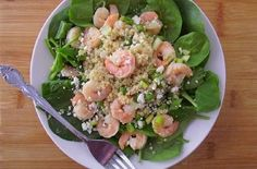 Warm Shrimp, Quinoa & Spinach Salad — Punchfork