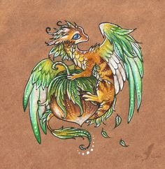 Little hazelnut dragon by AlviaAlcedo.deviantart.com on @deviantART