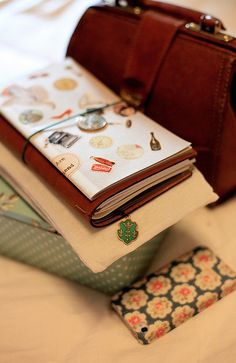 Travel Journal-Art Diary-Eclectic Dersign Book| Serafini Amelia| midori traveler's notebook