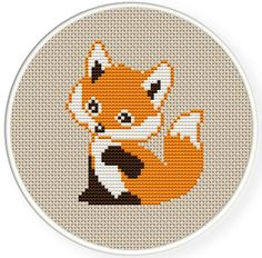 INSTANT DOWNLOAD,Free shipping,Counted Cross stitch pattern,Cross-Stitch PDF, a cute fox, zxxc0365