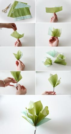 SUPER EASY PAPER FLOWERS DIY