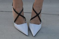 black and white pumps. #shoes #highheels #prada #luxury #style #fashion #pumps