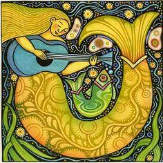 Pinzellades al món: 10 Sirenes i 1 sireno: il·lustracions / 10 Sirenas y 1 sireno: ilustraciones