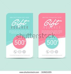 Gift voucher template,gift voucher certificate coupon design template, Collection gift certificate business card banner calling card poster,Vector illustration