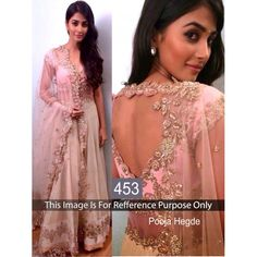 Beautiful Pooja Hedge Bollywood Designer Replica Lehenga