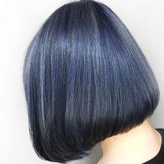 Hair Goals Pastel Beauty Ideas For 2019 Ash Blue Hair, Hair Color Blue, Blue Ash, Ash Ash, Dyed Hair Blue, Hair Colors, Black Hair, Dark Blue, Color Black