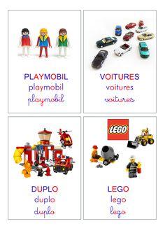 Étiquettes de rangement des jouets à plastifier.