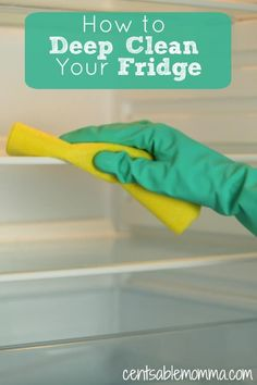 As part of your spring cleaning, you may want to deep clean your fridge, but what's the best way to do it? Check out these 7 easy steps (including using baking soda) to have a clean refrigerator in your home kitchen. via @centsablemomma