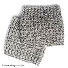 Comfy Squares Textured Boot Cuffs Crochet Pattern by Little Monkeys Crochet Crochet Boots, Crochet Mittens, Crochet Gloves, Crochet Slippers, Knit Crochet, Learn Crochet, Crochet Winter, Crochet Stitches, Free Crochet
