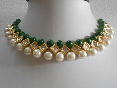 Gold Tone Kundan Pearls Necklace Earrings Mina Indian Bollywood Jewelry Set | Jewelry & Watches, Fashion Jewelry, Jewelry Sets | eBay!