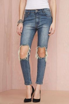 UNIF Peach Pit Skinny Jeans | Shop What's New at Nasty Gal