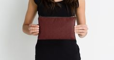 Diamonds and Dots in Iron on Maroon Studio Pouches by Terrella